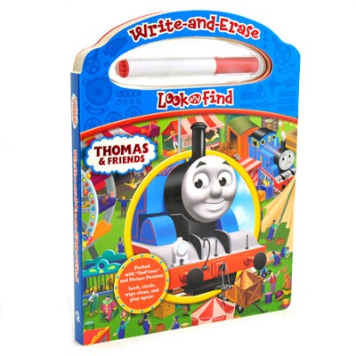 Thomas & Friends: Write-And-Erase Look And Find Book  -