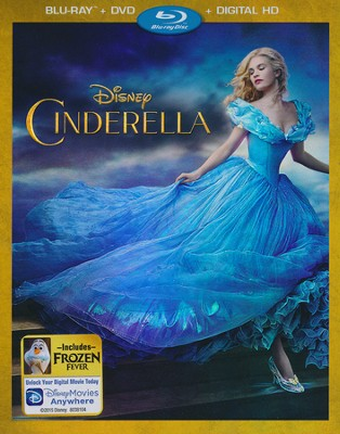 Cinderella, Blu-ray/DVD/Digital HD   -