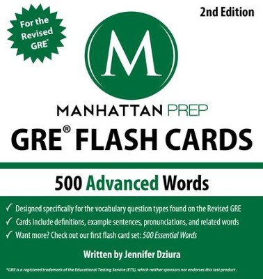 500 Advanced Words: GRE Vocabulary Flash Cards - eBook  -     By: Manhattan Prep
