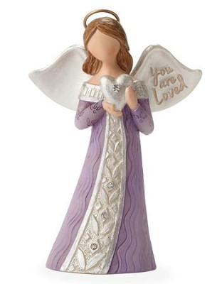 You are Loved Angel Figurine  -     By: Kim Lawrence