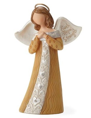 Faith, Hope, Strength Figurine  -     By: Kim Lawrence