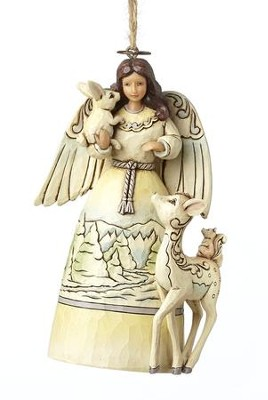 Woodland Angel Ornament  -     By: Jim Shore