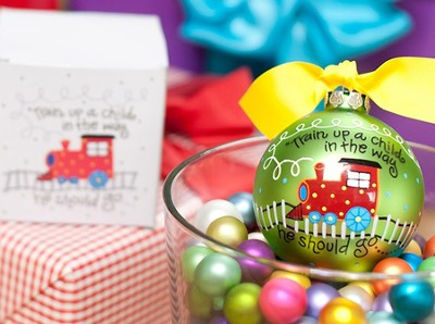 Train Up a Child Ornament to Personalize, Gift Boxed  -
