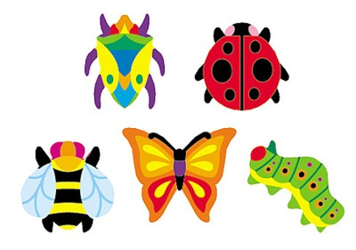 Totally Buggy SuperShapes Stickers  -