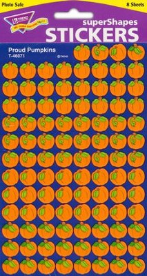Proud Pumpkins SuperShapes Stickers  -