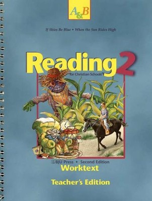 BJU Reading 2, Worktext Teacher's Edition    -