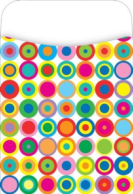 Peel & Stick! Disco Dots Library Pockets  -