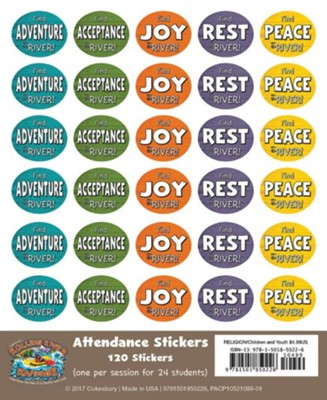 Rolling River Rampage: Attendance Stickers (Pkg of 24)  -