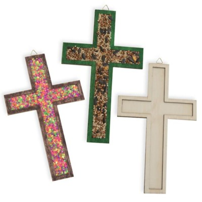 Rolling River Rampage: Raised Edge Wood Craft Cross (Pkg of 12)  -