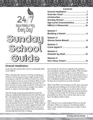 24/7 VBS: Sunday School Guide  -