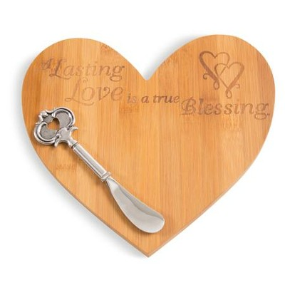 A Lasting Love is a True Blessing Cheese Board with Spreader  -