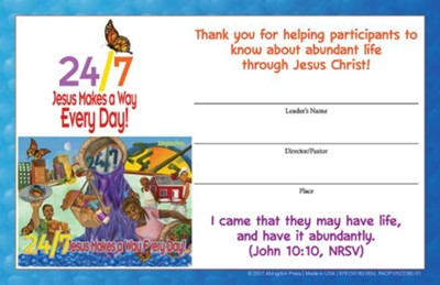 24/7 VBS: Leader Certificates, pkg of 12  -