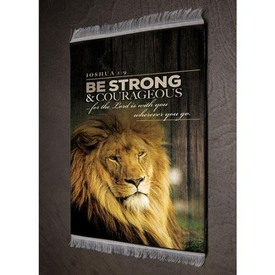 Be Strong & Courageous, Joshua 1:9 Carpet Coaster   -