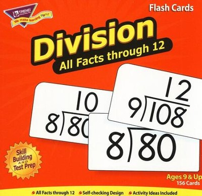 Division 0-12 (all facts) Flash Cards  -