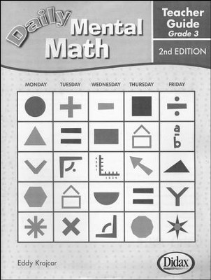 Daily Mental Math Grade 3 Teacher's Guide  - Slightly Imperfect  -