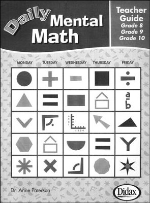 Daily Mental Math Teacher's Guide Gr 8, 9, & 10   -