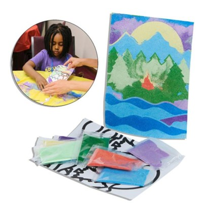 Rolling River Rampage: River Sand Art Craft Kit (Pkg of 12)  -