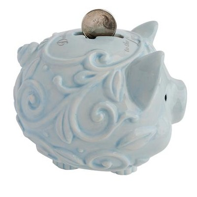 Dedicated to the Lord Piggy Bank, Blue  -