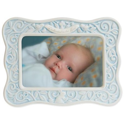 Dedicated to the Lord Photo Frame, Blue  -