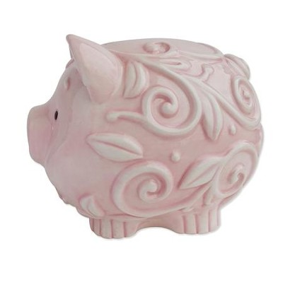 Dedicated to the Lord Piggy Bank, Pink  -