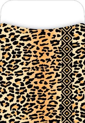 Peel & Stick! Africa - Leopard Library Pockets  -