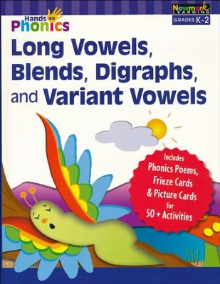 Hands-On Phonics: Long Vowels, Blends, Digraphs, and Variant Vowels (Grades K-2)  -