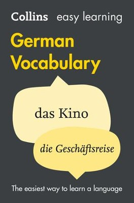 Easy Learning German Vocabulary (Collins Easy Learning German) - eBook  -     By: Collins Dictionaries
