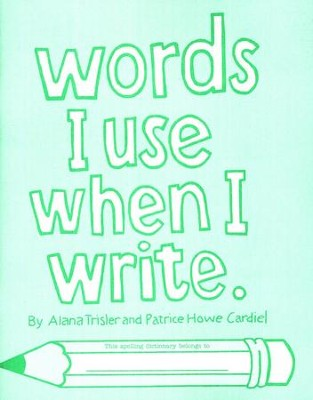 Words I Use When I Write, Grades 1-2   -