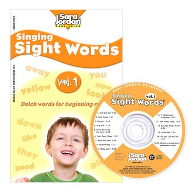 Singing Sight Words Volume 1 CD/Book Kit  -     By: Sara Jordan