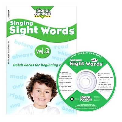 Singing Sight Words Volume 3 CD/Book Kit  -     By: Sara Jordan