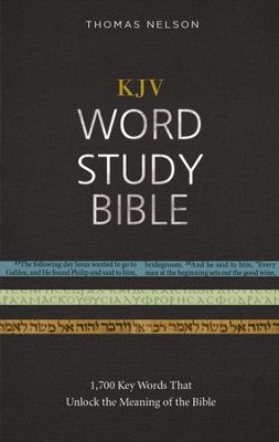 KJV, Word Study Bible, Ebook, Red Letter Edition: 1,700 Key Words that Unlock the Meaning of the Bible - eBook  -     By: Thomas Nelson