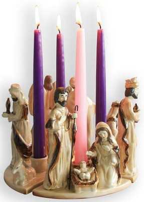Nativity Advent Wreath   -
