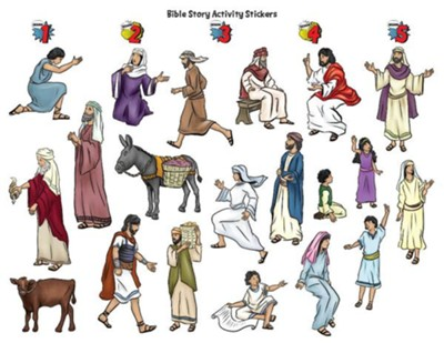 Hero Central: Bible Story Activity Stickers, pkg of 6   -