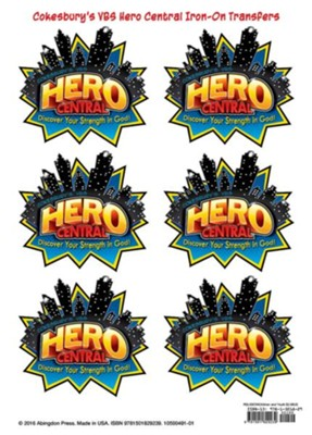 Hero Central: Iron-On Transfers, pkg of 12   -