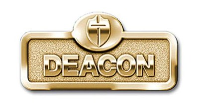 Deacon Badge with Cross, Brass                   -