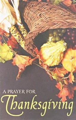 A Prayer for Thanksgiving (KJV), Pack of 25 Tracts   -