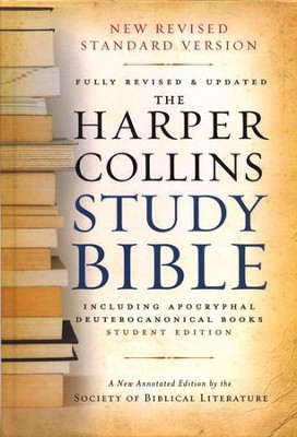 NRSV HarperCollins Study Bible with Apocrypha, Student Edition, Revised, hardcover  -