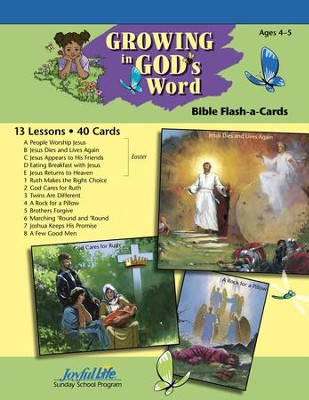 Growing in God's Word Beginner (ages 4 & 5) Extra Bible Story Lesson Guide  -