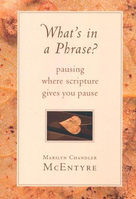 What's in a Phrase? Pausing Where Scripture Gives You   Pause ?  -     By: Marilyn Chandler McEntyre