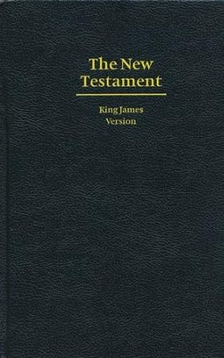 KJV Giant Print New Testament, Hardcover, black  -