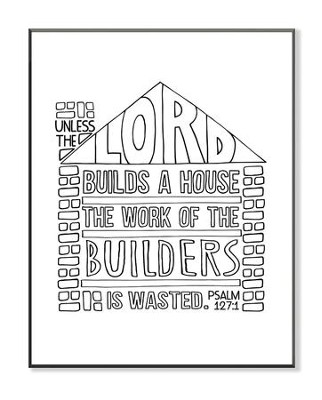 Lord Builds A House, Coloring Wall Art, Small  -