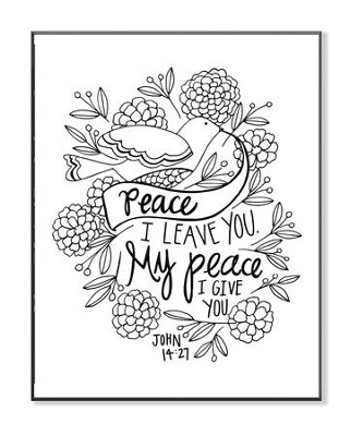 My Peace, Coloring Wall Art, Small  -