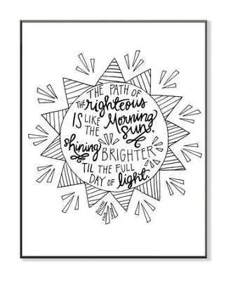 The Path Is Righteous, Coloring Wall Art, Small  -