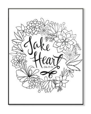 Take Heart, Coloring Wall Art, Small  -