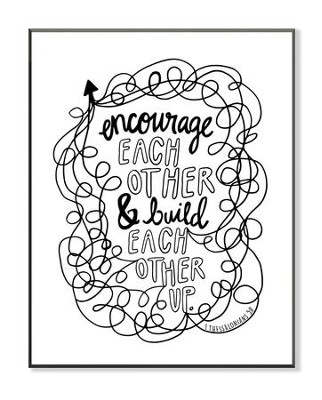 Encourage and Build Each Other, Coloring Wall Art, Large  -