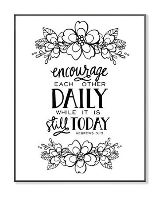 Encourage Each Other Daily, Coloring Wall Art, Large  -