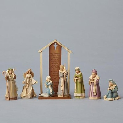 Foundation Nativity Set 8 Pieces   -     By: Karen Hahn