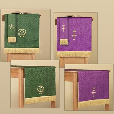 3-piece Jacquard Parament Set Purple / Green   -