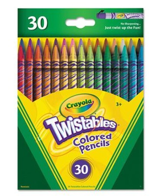 Crayola, Twistables Colored Pencils, 30 Pieces  -