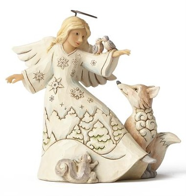 Woodland Angel with Animals Figure  -     By: Jim Shore